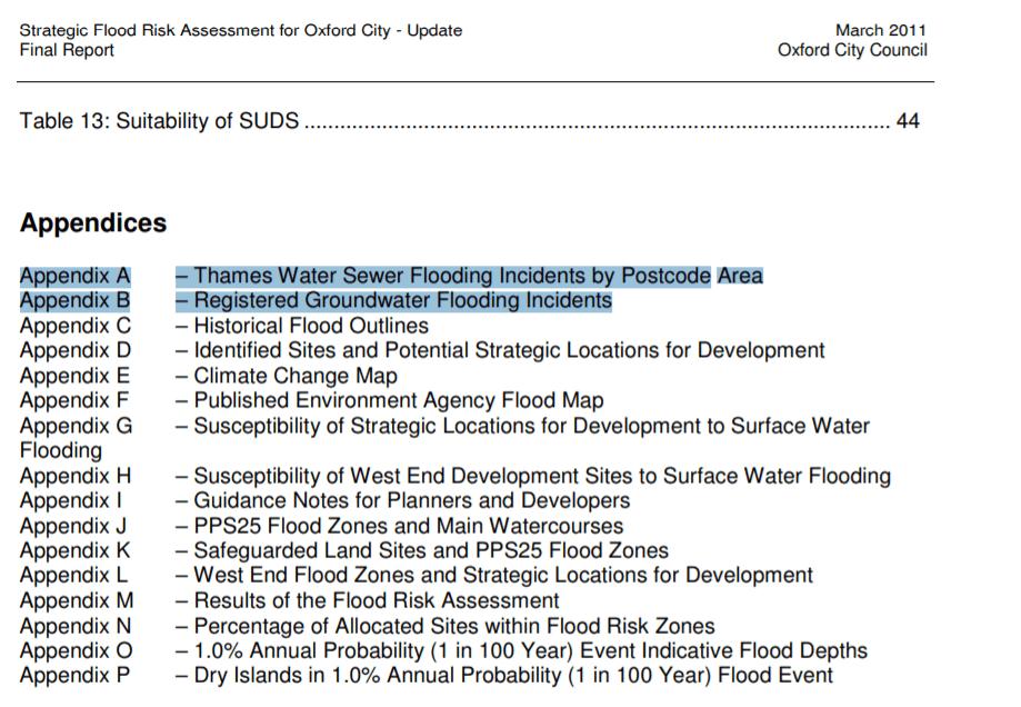 Strategic-flood-risk-assessment-table-contents