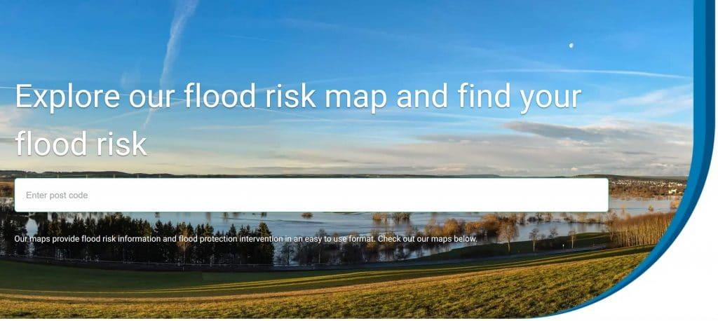 Flood Risk Map UK Urban Water