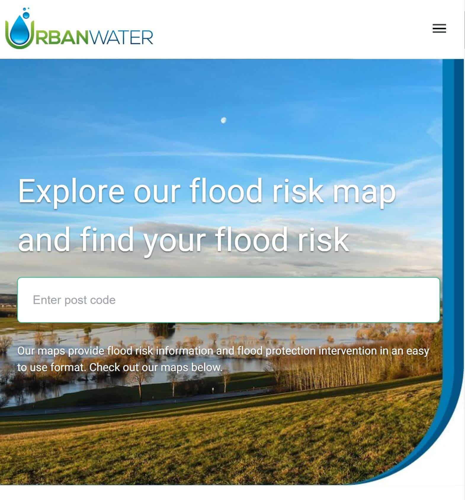 Flood Risk Map Urban Water
