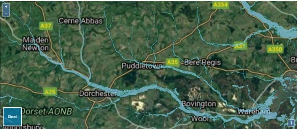 flood risk map Dorset