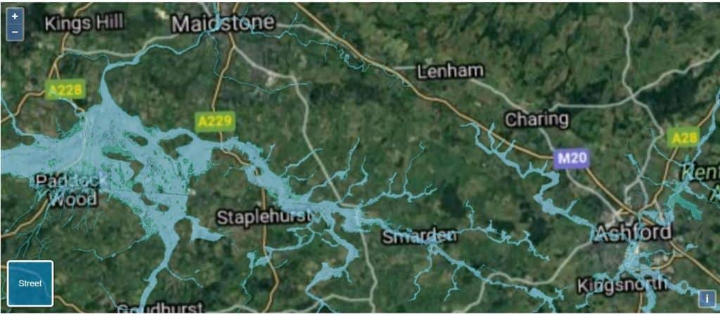 flood risk map kent