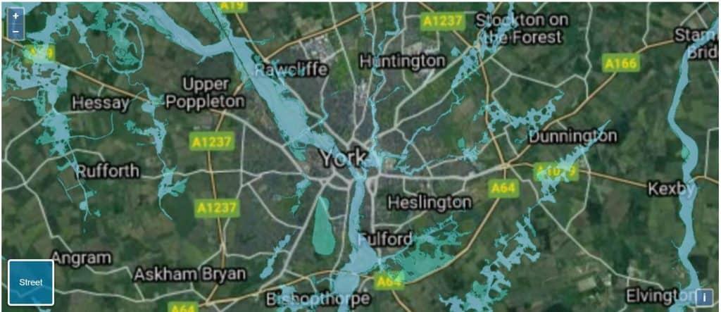 flood risk map york